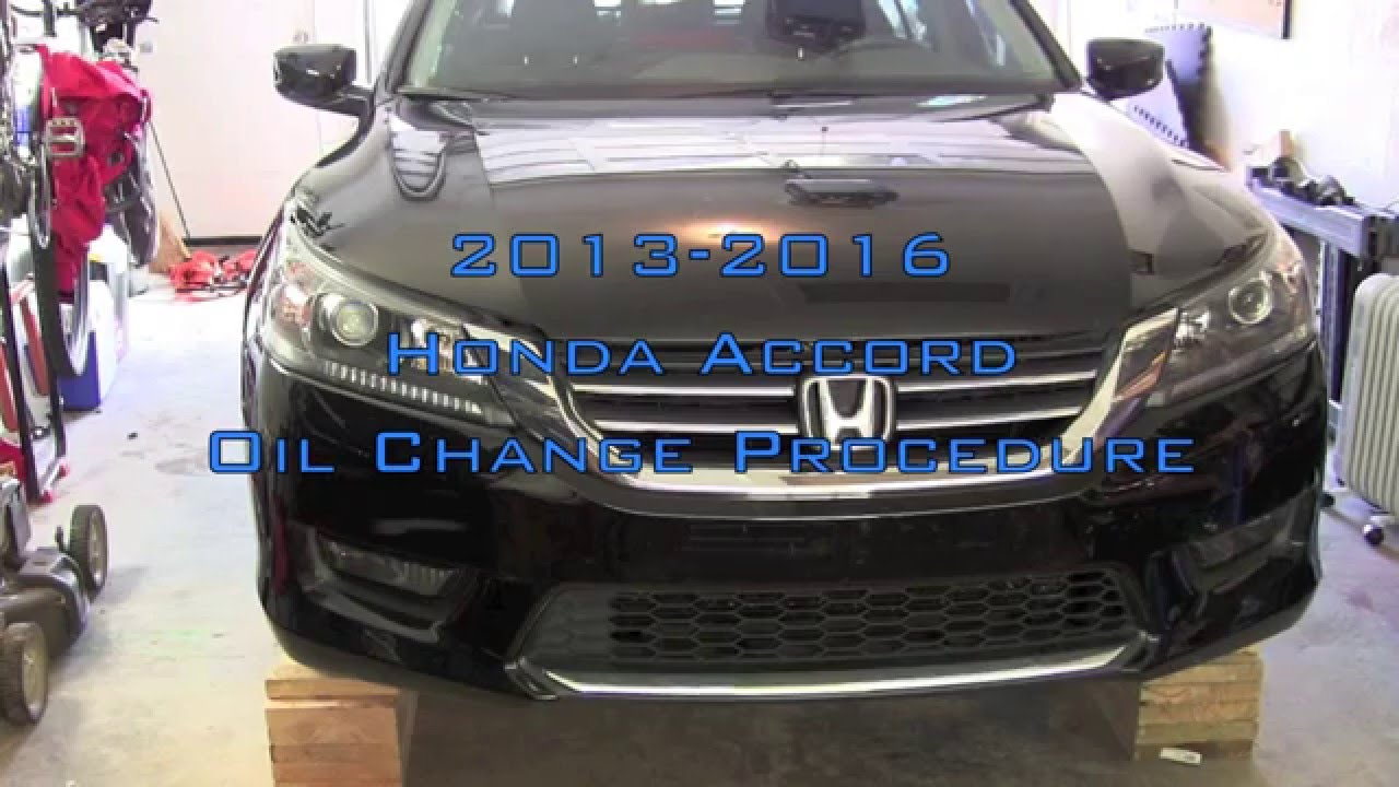 Honda Accord Oil Change  20132016  YouTube