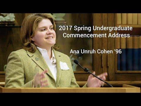 Spring 2017 Undergraduate Commencement Speaker