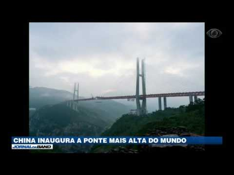 China inaugura a ponte mais alta do mundo