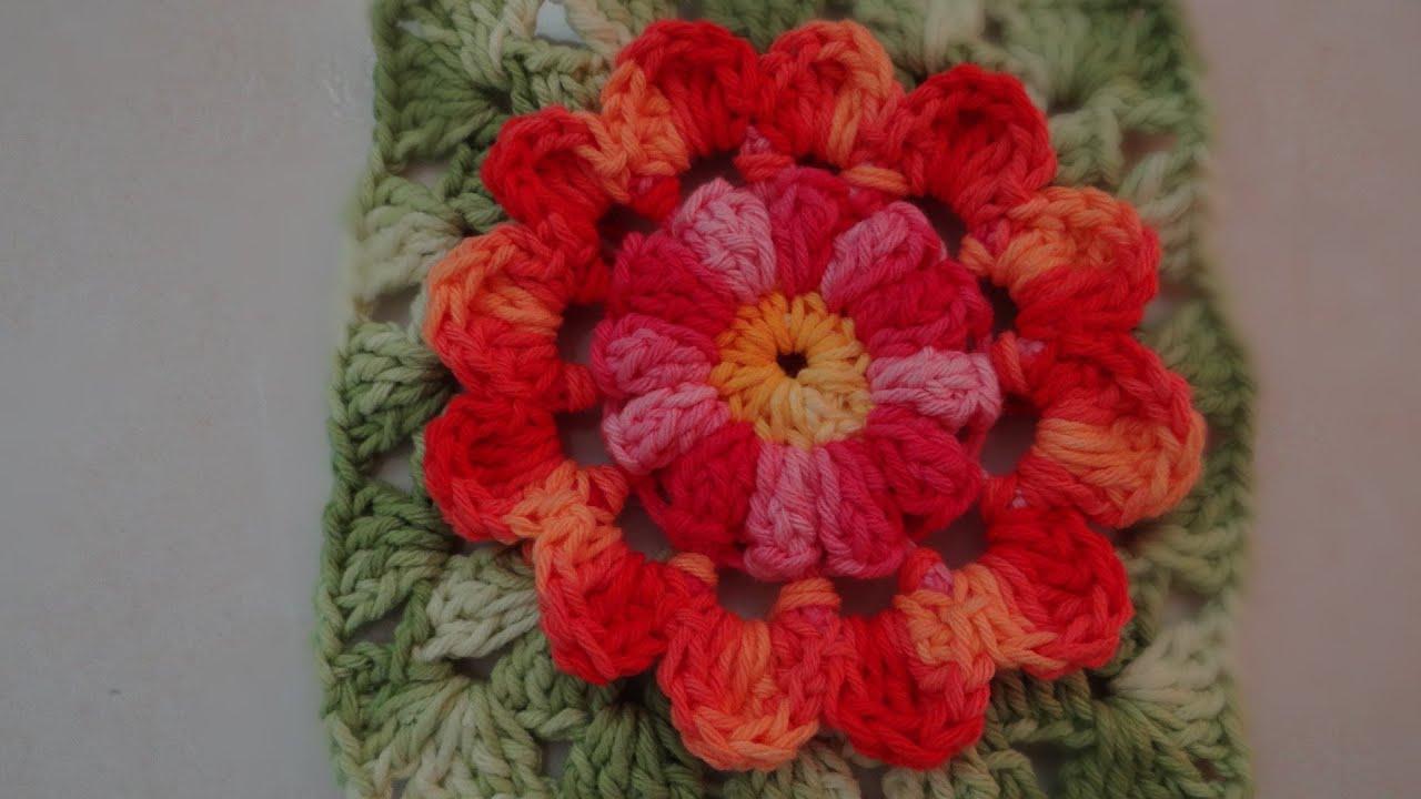 Passo a passo Flor de Outono em Croch? - YouTube