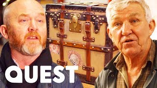 Drew gets this Louis Vuitton trunk carefully restored by Martin, an...