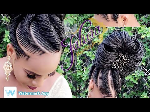 #23-tiny-natural-hair-braiding-with-extensions-|freestyle-braiding