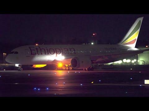 Ethiopian Airlines Boeing 787-8 ET-ARF Landing at NRT 34R