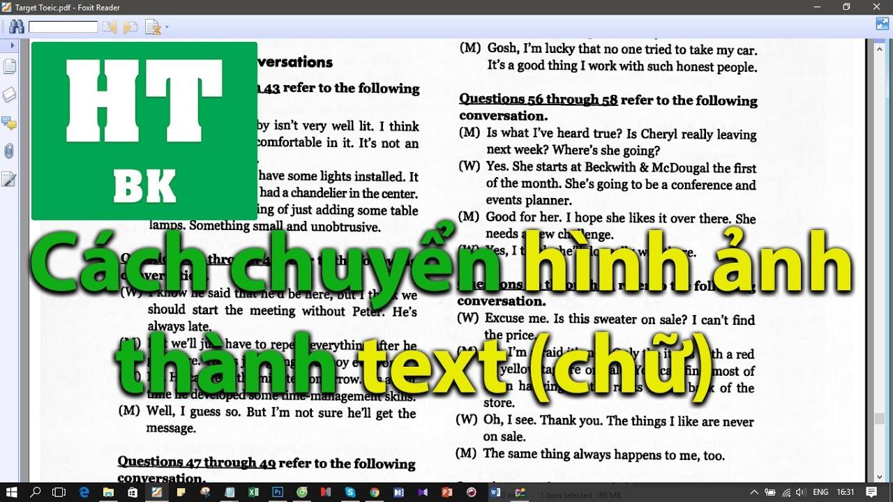 Cách chuyển hình ảnh thành text (chữ) Online dễ dàng và nhanh chóng
