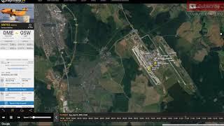 Flight 6W703   Russian An 148 Plane Crash Full Flight Flight Radar 24