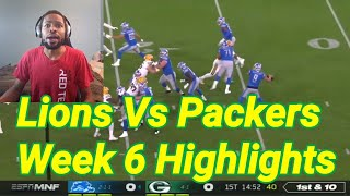 Lions vs Packers Week 6 Highlights and Reaction | NFL 2019