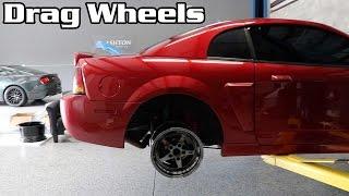 Test Fitting JMS Drag Wheels on the Cobra + Meet + Racing