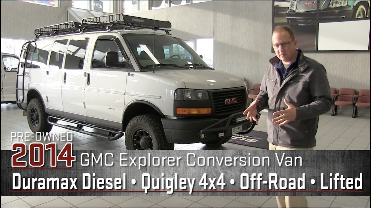 Custom Quigley 4x4 Duramax Diesel Lifted 2014 GMC Off-Road Explorer  Conversion Van