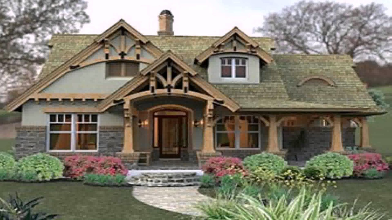 Modern craftsman style house youtube for Free craftsman house plans