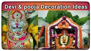 Varamahalakshmi decoration ideas 2020/Varamahalakshmi face decoration/varamahalakshmi saree draping.