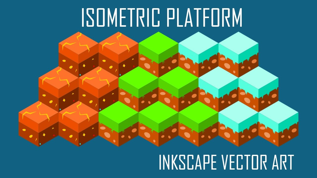 Simple Isometric Platforms - Vector Game Art in Inkscape   MadFireOn  