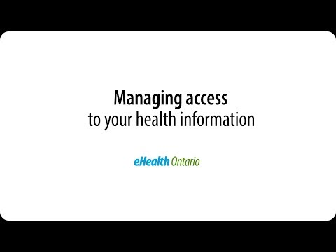 Managing access to your health information