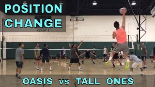 POSITION CHANGES - Oasis vs Tall Ones (FULL GAME 8/3/17) - IVL Men's Open Volleyball