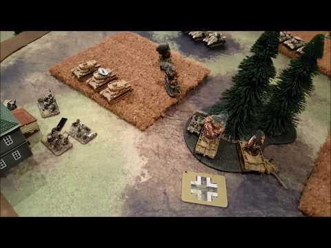 Flames of War 71pts CounterAttack DAK vs Desert Rats
