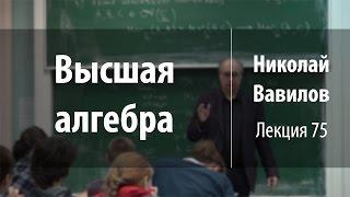 Лекция 75 | Высшая алгебра | Николай Вавилов | Лекториум