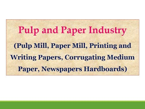 Pulp and Paper Industry (Pulp Mill, Paper Mill, Printing and Writing Papers)