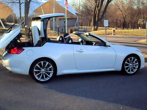 Infiniti G37s Convertible Top Operation