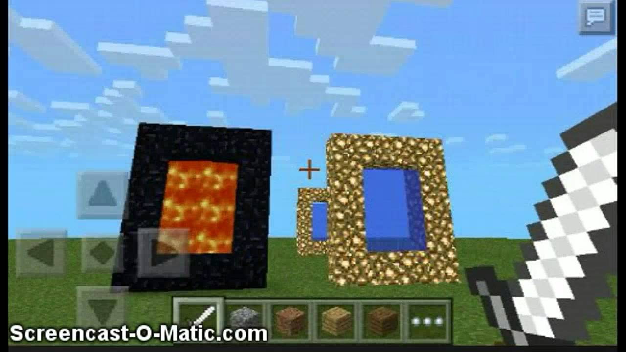 how to create a portal in minecraft pocket edition