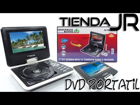 Unboxing Review Reproductor DVD Portatil Pantalla Giratoria LCD 7'' Sintonizador TV Juegos