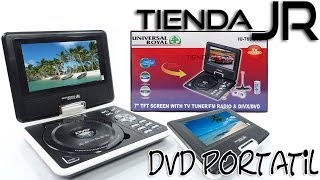 Unboxing Review Reproductor DVD Portatil Pantalla Giratoria LCD 7