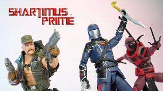 GI Joe Classified Wave 2 Cobra Commander, Red Cobra Ninja, Gung Ho Hasbro Action Figure Review