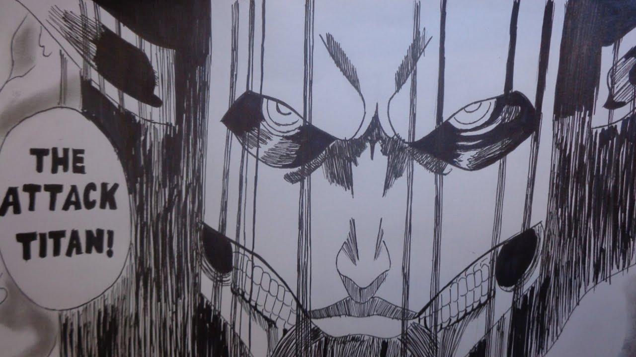 Spoiler Alert Attack On Titan How To Draw Eren Jaeger New Titan Form Founding Manga Chapter 130 Youtube