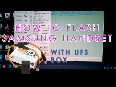 How to flash Samsung handset (Swift category) with UFS BOX | In English