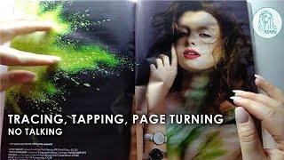 ASMR Magazine Tracing, Tapping, Turning Pages, Scratching • No Talking
