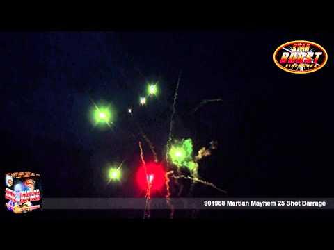 Star Burst Fireworks - 901968 Martian Mayhem 25 Shot Barrage