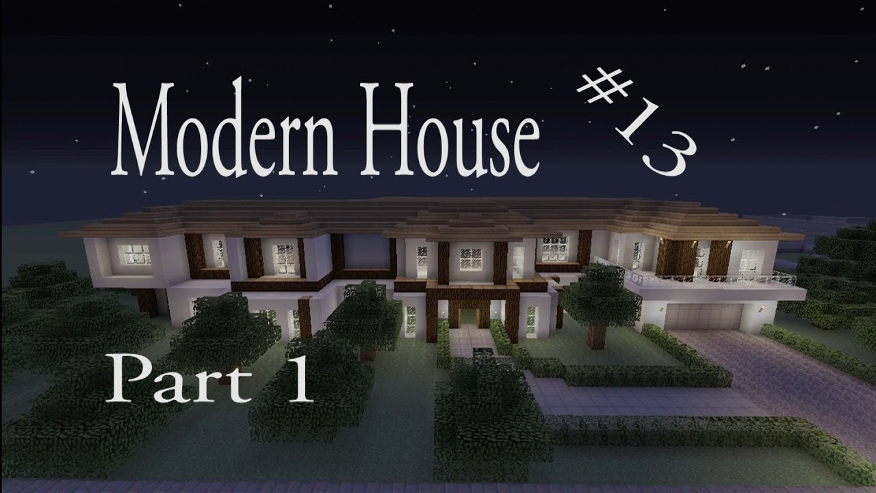 Lets make a modern house part 1 in minecraft xbox 360 for Modern house xbox minecraft