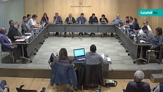 Ajuntament de Calafell: 2a sessió plenària extraordinària, 23 d'octubre de 2017