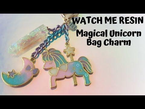 Watch Me Resin - Magical Unicorn Bag Charm