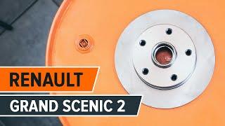 Jak vyměnit přední brzdové kotouče a brzdové destičky na RENAULT GRAND SCENIC 2 NÁVOD | AUTODOC