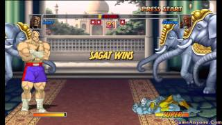 Super Street Fighter II Turbo: HD Remix Playthrough (Sagat Pt. 1/2)
