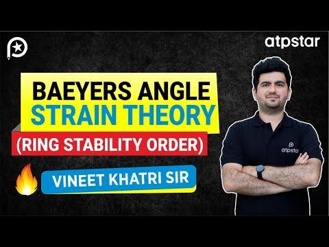 Baeyers angle strain theory ( ring stability) - JEE||NEET||CBSE (HINDI)