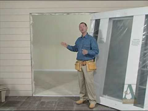 how to prepare to install new patio doors