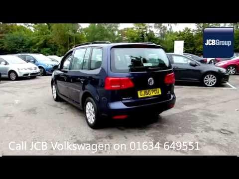 2010 Volkswagen Touran Bluemotion S 1.6l Night Blue Metallic GJ60PDU for sale at JCB VW Medway