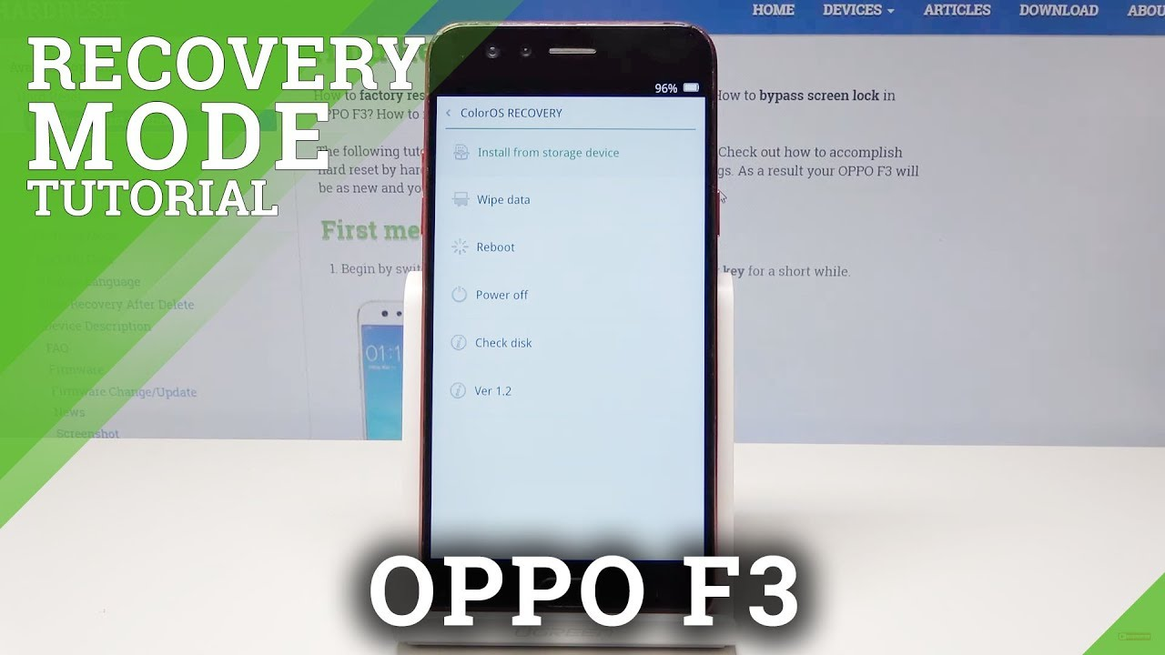 Recovery Mode OPPO F3 - HardReset info
