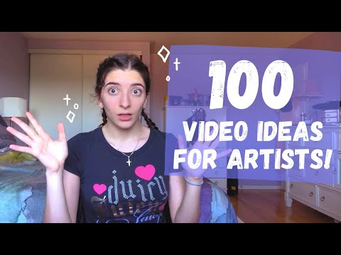 100 Video Ideas for Art Youtubers! ☆ Youtube Video Ideas for Artists + Art Channel Video Ideas ☆