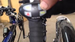 Q-Lite Multi Bicycle Light on a recumbent trike