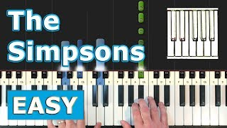 The Simpsons Theme - EASY Piano Tutorial - Sheet Music (Synthesia)