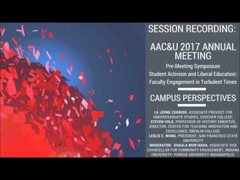 Pre-Meeting Symposium: Campus Perspectives