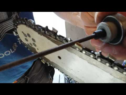 Sharpening a Chainsaw the easy way with a cordless drill