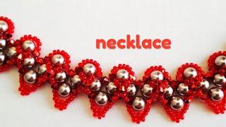 Necklace. D Y. Колье из бусин. МК