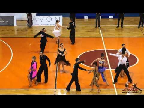 Athens DanceSport Open 2013: Adults: Five Dance Latin: QuarterFinal