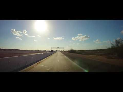 Driving on Interstate 8 - Imperial County, California