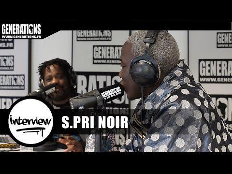 """S.Pri Noir - Interview """"Masque Blanc"""" (Live des studios de Generations)"""