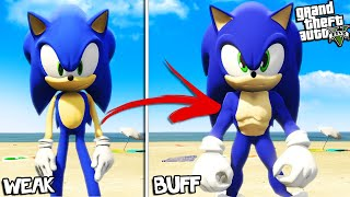 SONIC becomes SUPER BUFF in GTA 5