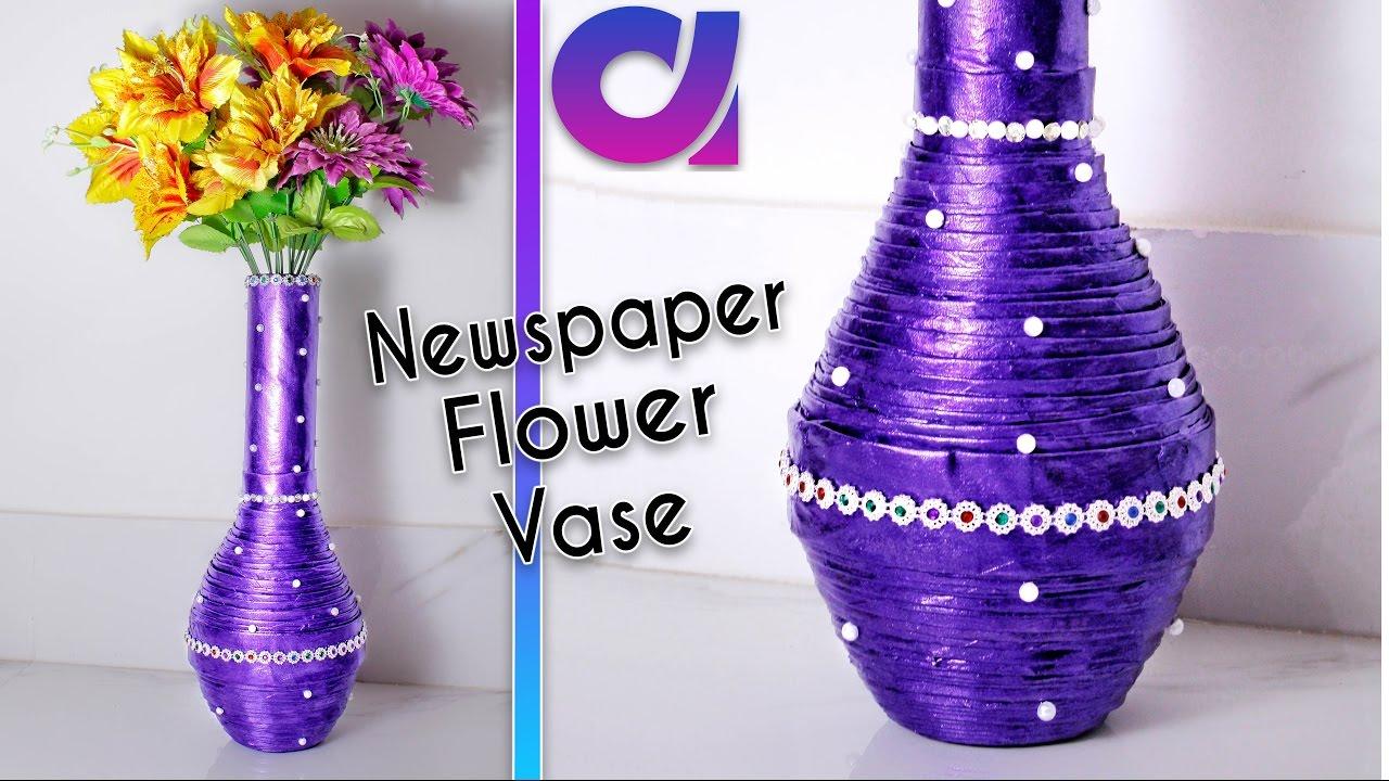 How To Make Newspaper Flower Vase Newspaper Craft Best