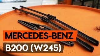 MERCEDES-BENZ B-CLASS Stiklo valytuvai keitimas: instrukcija